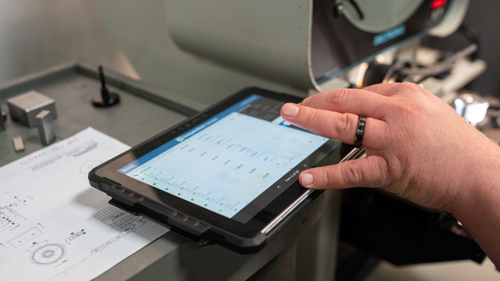 Mobile Inspection Software on a Tablet Computer