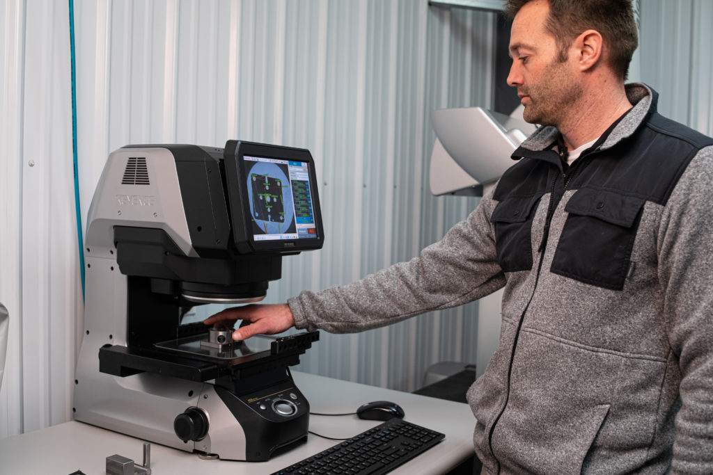 Quality Inspection Machine in Use